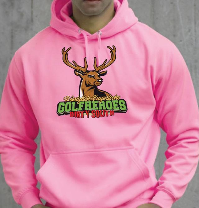 hoodie electric neon golfheroes hirsch