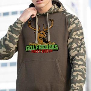 hoodie camouflage olivgrün golfheroes