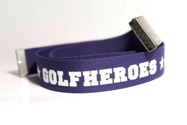 Gürtel brombeer/weiss Golfhose GolfHeroes