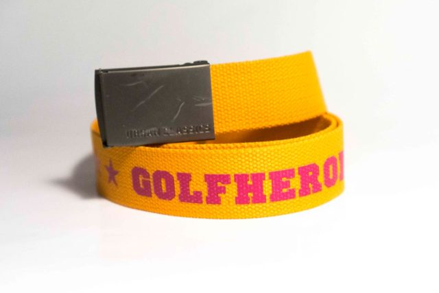 Gürtel orange/brombeer Golfhose GolfHeroes