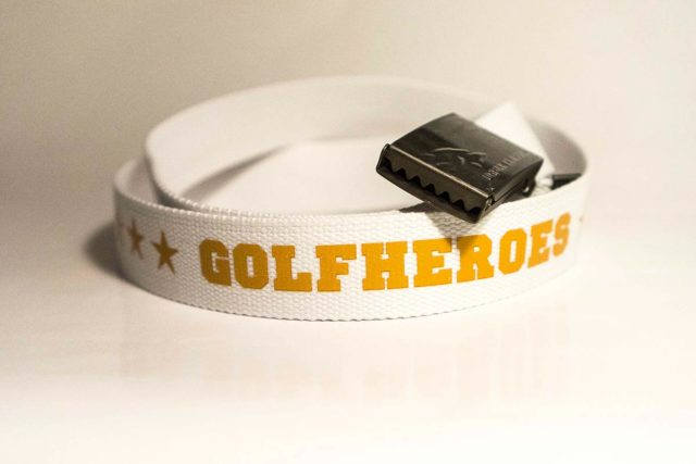 Gürtel weiss/orange Golfhose GolfHeroes