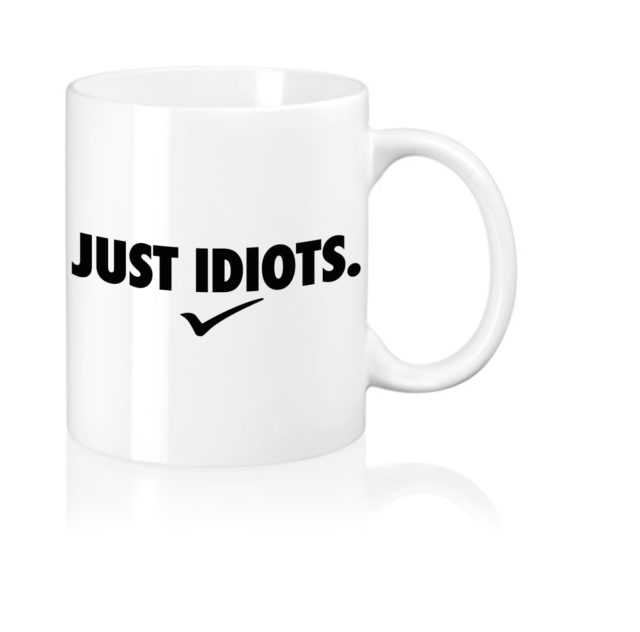 kaffeetasse becher just idiots