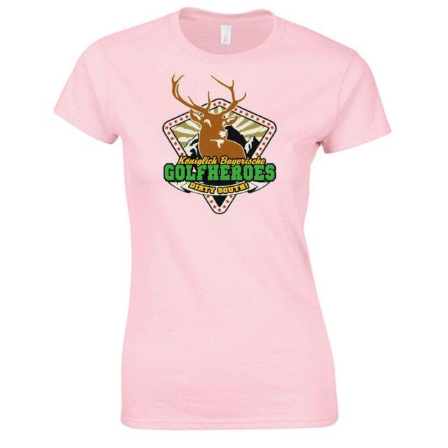 "T-Shirt ""GolfHeroes el classico"" in light pink, grau"