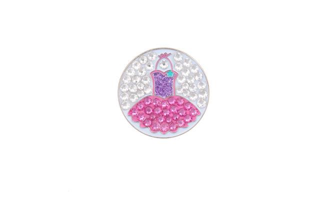 Bonjoc Ballmarker mit Swarovski Kristallen und magnetischem Hatclip