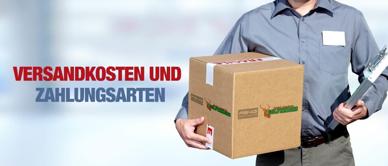 Versandkosten und Zahlungsarten bei golf-premimbrands.de